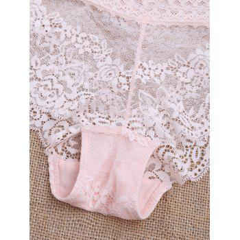 Scalloped See Through Lace Panties - LIGHT PINK LIGHT PINK
