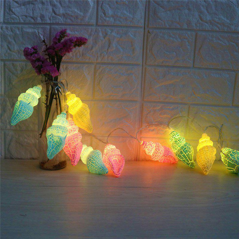 LED Conch Shape String Lights - COLORFUL