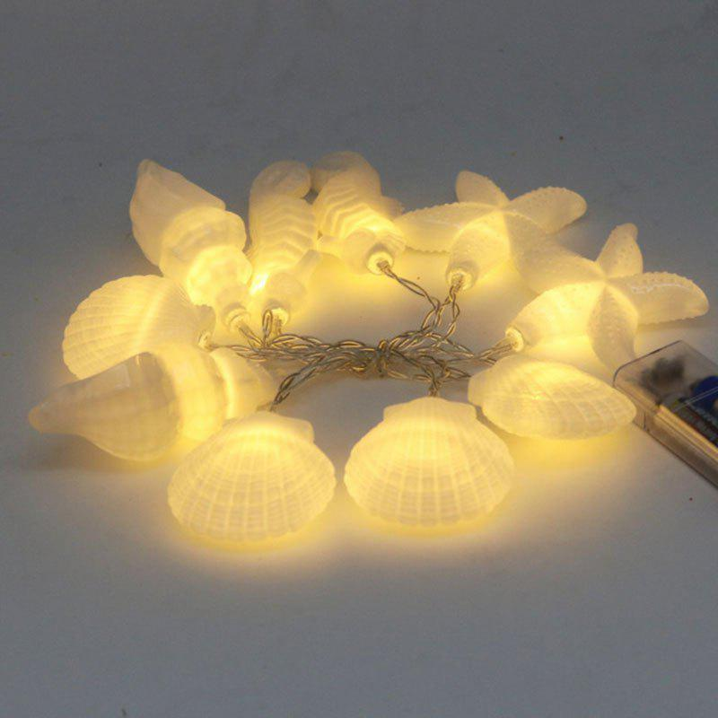 Home Collection Seashells Starfishs Shape LED String Lights - WHITE