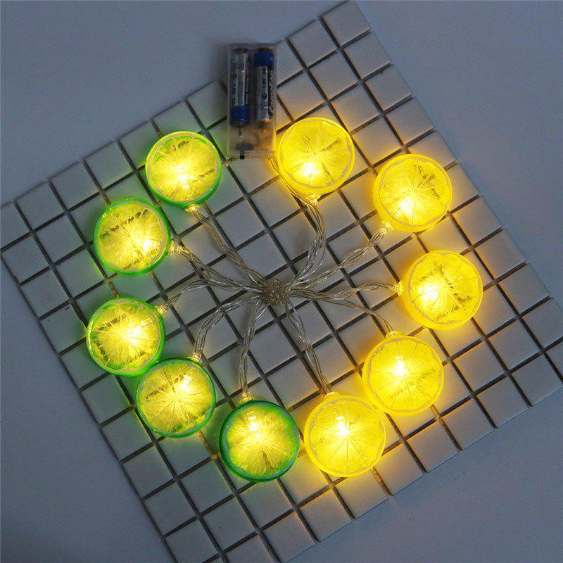 Lemon Shape LED String Lights - GREEN/YELLOW