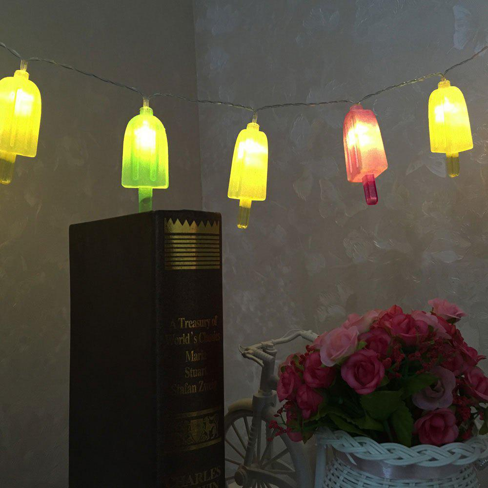 10 LED Ice-lolly Holiday Decoration Shape String Lights - COLORFUL