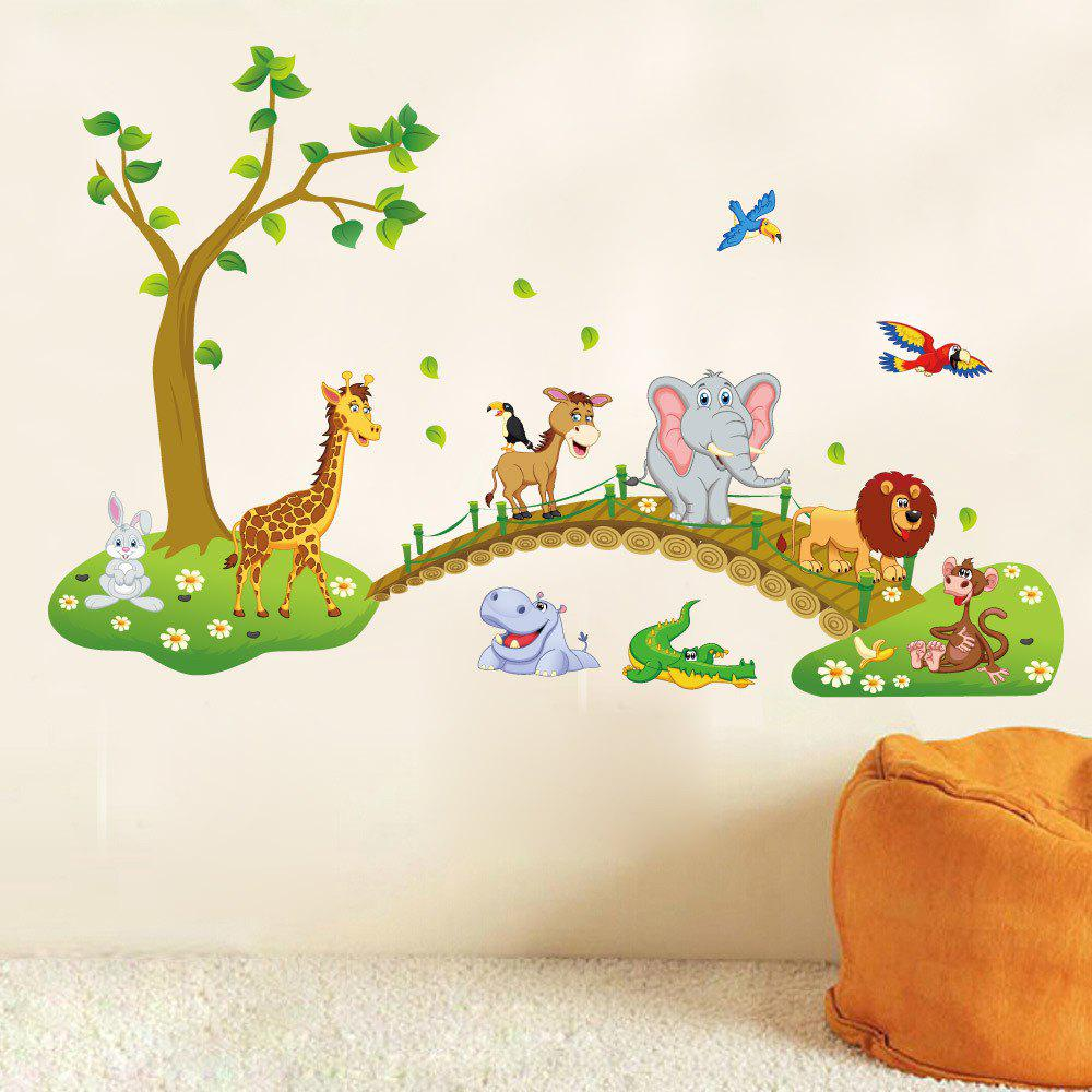 Home Decor Animals World Printed Wall Stickers - COLORMIX