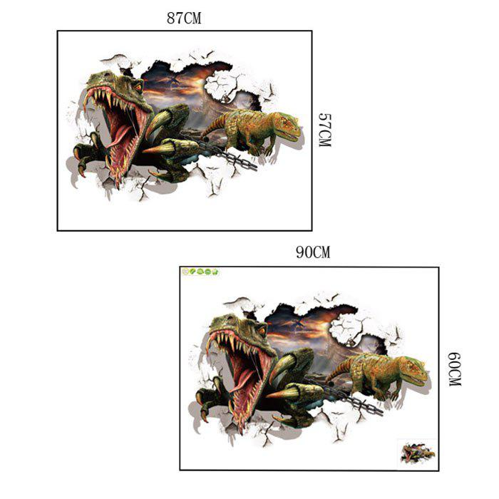 Dinosaurs Printed Home Decor Wall Art Sticker - COLORMIX