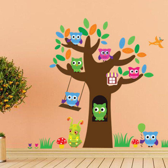 Birds Tree Printed Home Decor Wall Art Sticker - COLORMIX