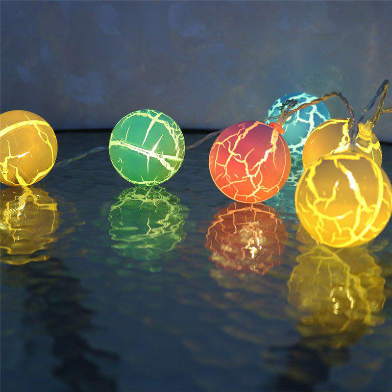 Colorful Crack Ball Shape LED String Lights - COLORFUL