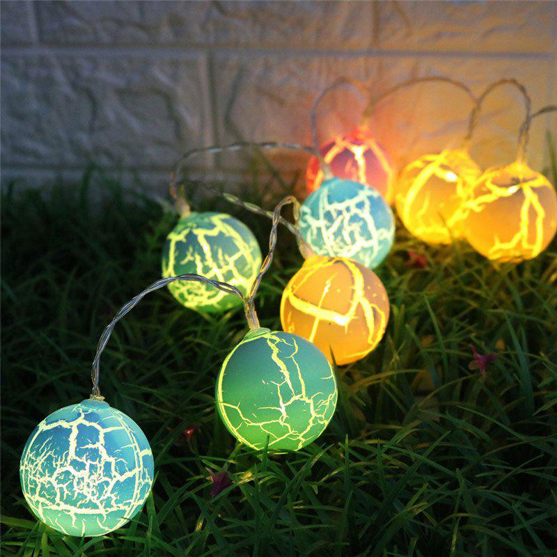 Colorful Crack Ball Shape LED String Lights - coloré