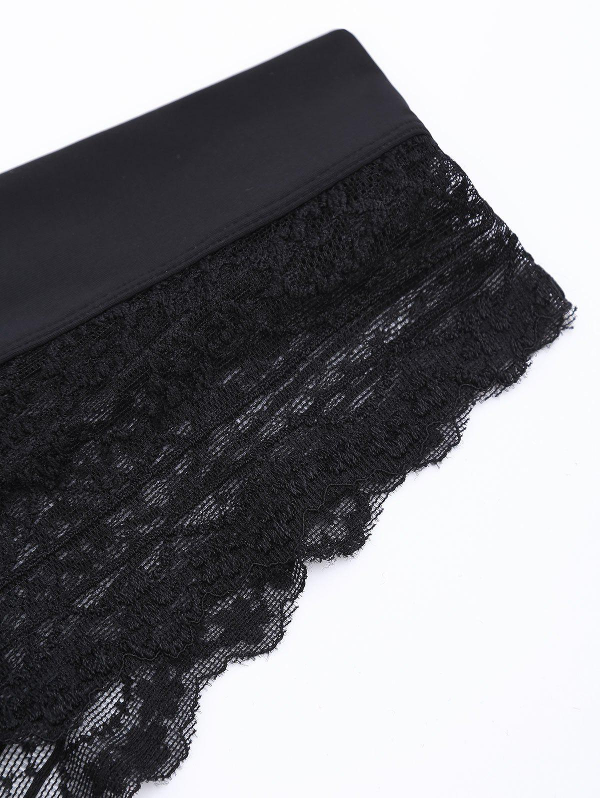 Lace See Through Sexy Panties - BLACK XL