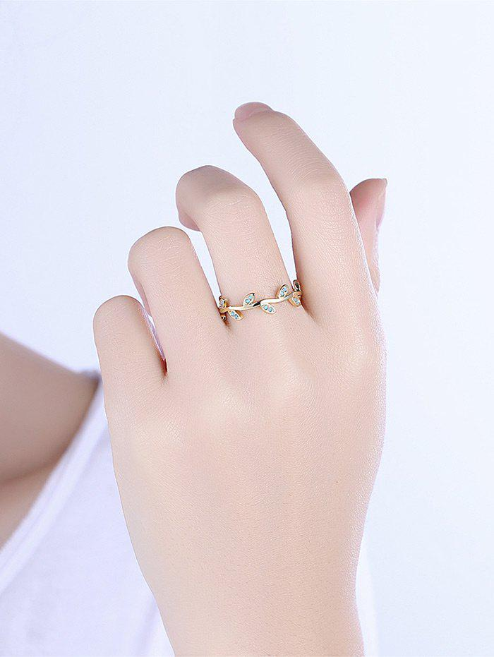 Bohemian Leaves Circle Finger Ring - GOLDEN 9