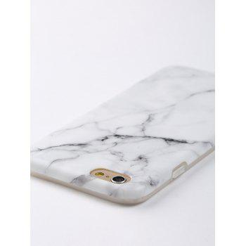 Marble Pattern Soft Phone Case For Iphone - WHITE FOR IPHONE 6 / 6S