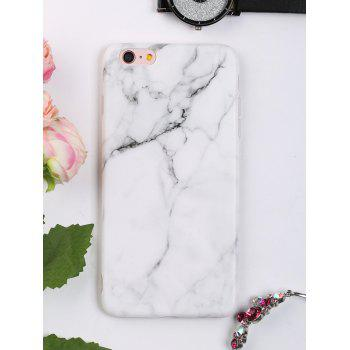 Marble Pattern Soft Phone Case For Iphone - WHITE WHITE
