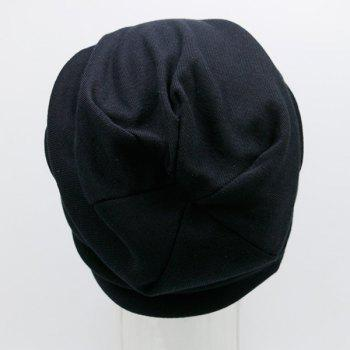 Bonnet en maille imprimé SIMPLE - Noir