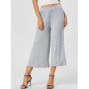 Ninth High Waisted Wide Leg Pants - GRAY GRAY