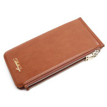 Faux Leather Zip Wallet - VERTICAL VERTICAL
