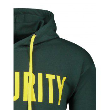 Recurity Graphic Front Pocket Mens Hoodie - GREEN GREEN