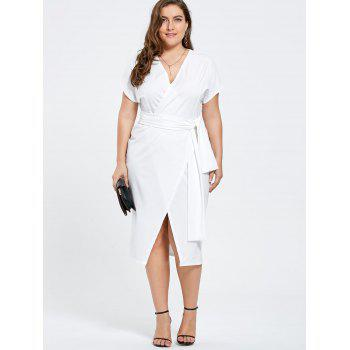 Formal plus size white dresses