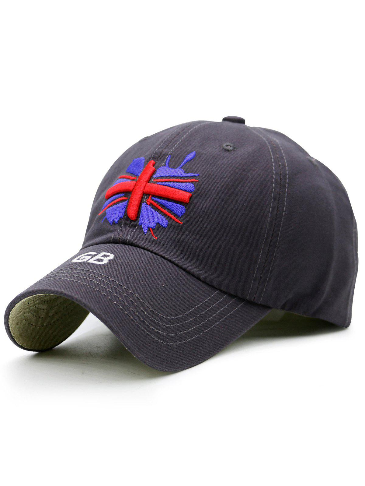 England Flag Embroidered Baseball Hat, Blue gray