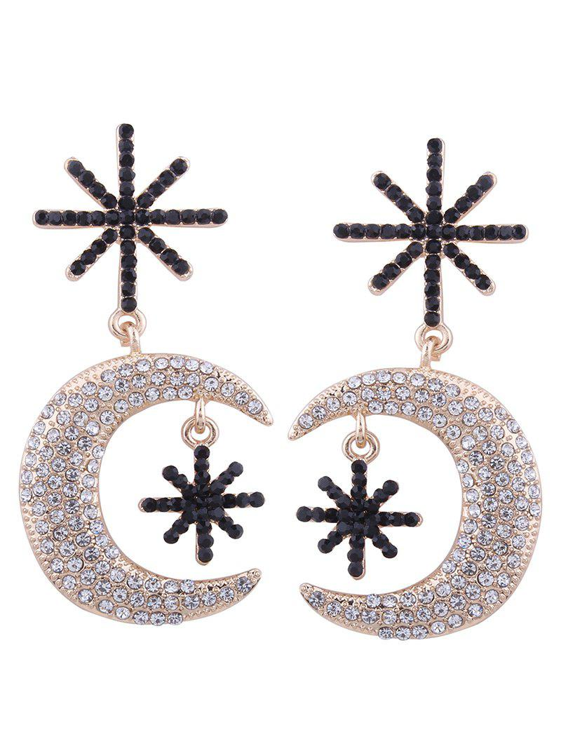 Alloy Rhinestone Moon Star Drop Earrings бордюр fap firenze heritage carbone spigolo 1x20