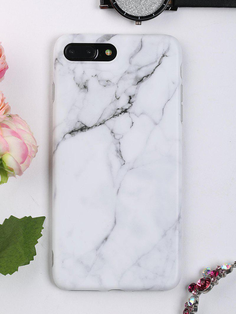 Marble Pattern Soft Phone Case For Iphone - WHITE FOR IPHONE 7 PLUS