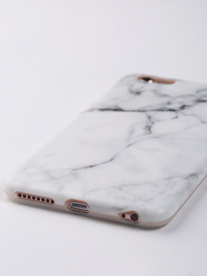 Marble Pattern Soft Phone Case For Iphone - WHITE FOR IPHONE 6 PLUS / 6S PLUS