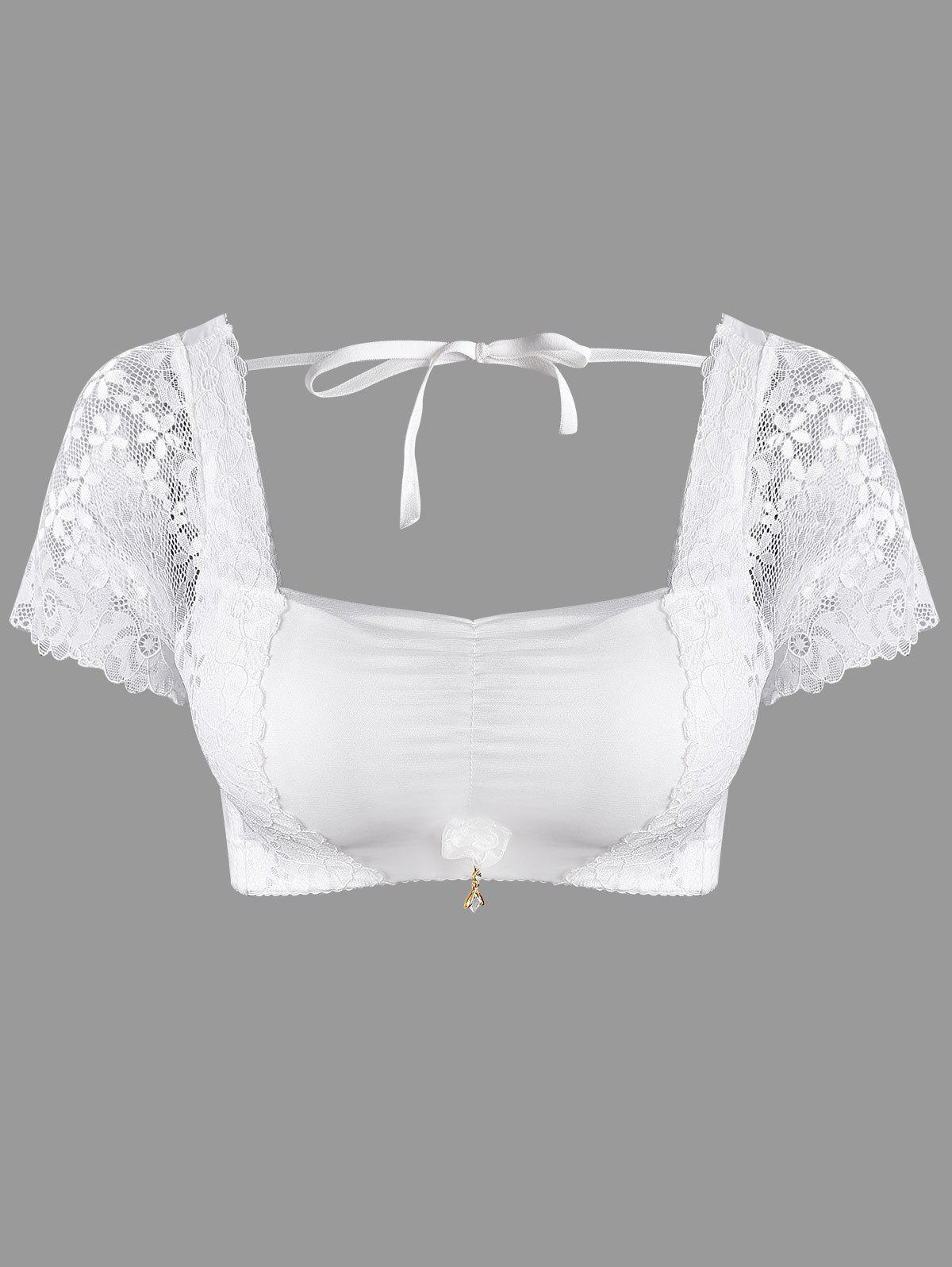 Halter Full Coverage Bra Top with Sleeve