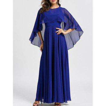 Caplet Maxi Evening Dress