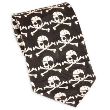 Pirate Skull imprimé 10CM Largeur cravate