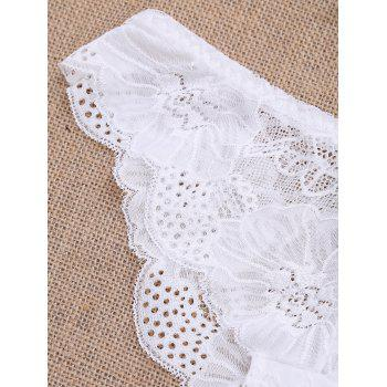 Scalloped Sheer Lace Panties - XL XL