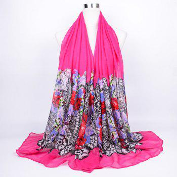 Flower and Lace Printed Voile Wrap Scarf - TUTTI FRUTTI TUTTI FRUTTI