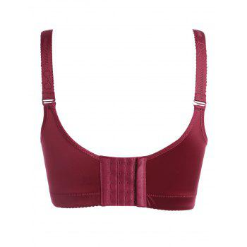 Padded Plunged Wireless Bra - DEEP RED 95C