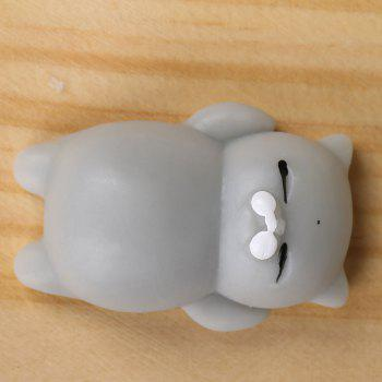 3Pcs Cat Shape Stress Relief Squeeze Squishy Toys -  GRAY