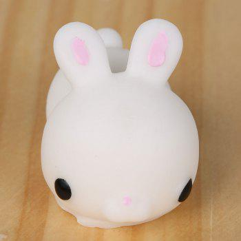 3Pcs Bunny Shaped Stress Relief Squeeze Squishy Toys - WHITE