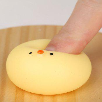 3Pcs Little Fat Chicken Stress Relief Squeeze Squishy Toys - YELLOW