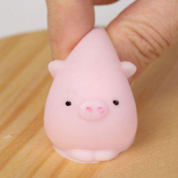 3Pcs Piggy Shaped Stress Relief Squeeze Squishy Toys - LIGHT PINK LIGHT PINK