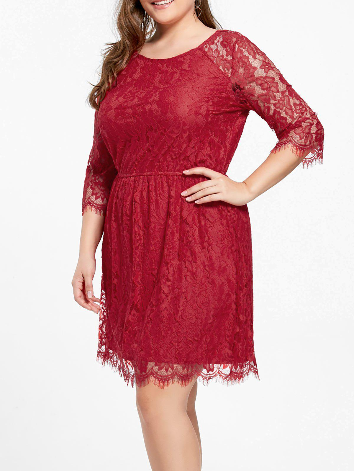 Knee Length Plus Size Lace Formal Dress floor length plus size lace formal dress