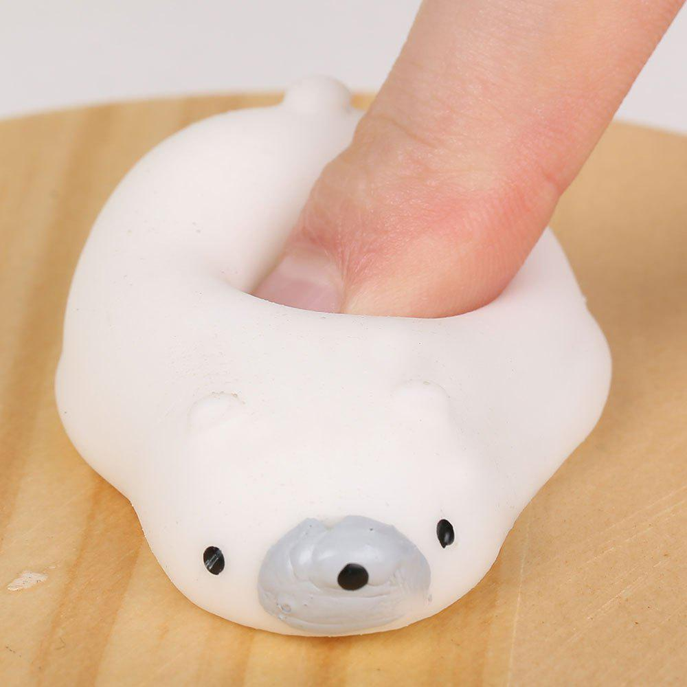 3Pcs Polar Bear Squeeze Stress Relief Squishy Toys - WHITE