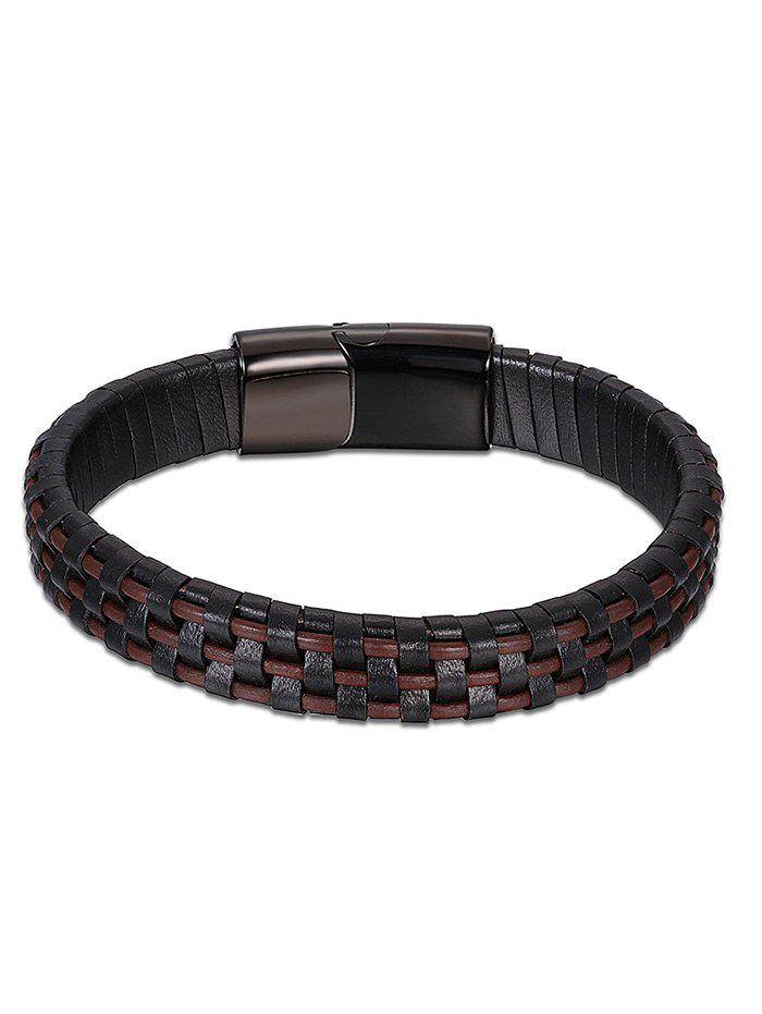 Bracelet Cool Faux Leather - BRUN