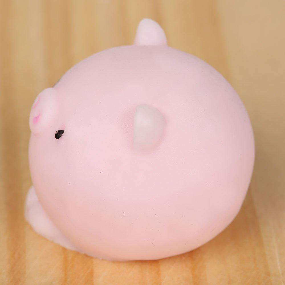 3Pcs Piggy Shaped Stress Relief Squeeze Squishy Toys - LIGHT PINK