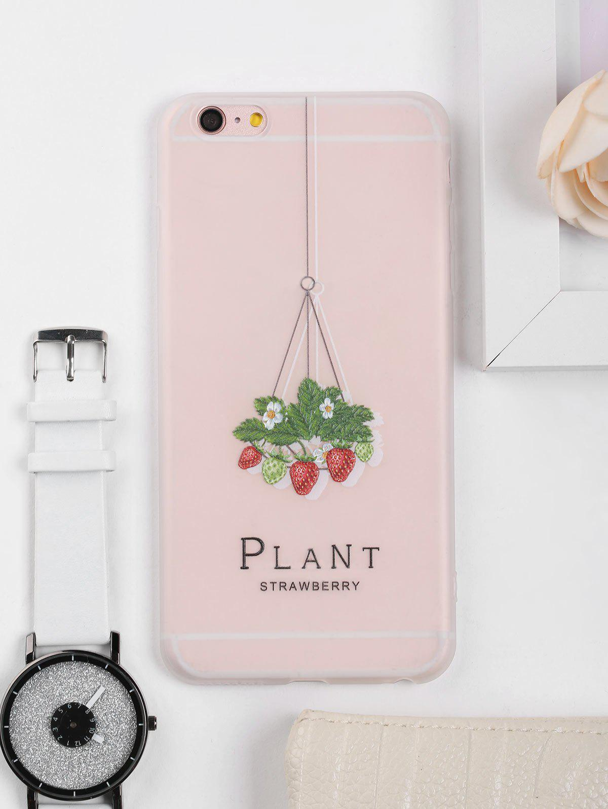 Strawberry Pattern Soft Phone Case For Iphone - CLEAR WHITE FOR IPHONE 6 PLUS / 6S PLUS