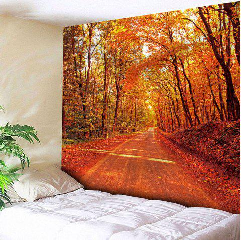 Waterproof Maple Leaf Road Pattern Wall Hanging Tapestry - DARKSALMON W59 INCH * L51 INCH