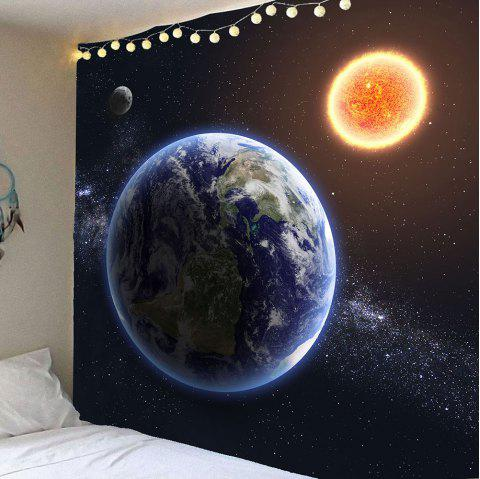 Waterproof Earth Planet Pattern Wall Hanging Tapestry - COLORMIX W59 INCH * L59 INCH