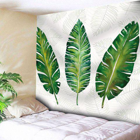 Palm Leaves Bedroom Wall Hanging Tapestry - WHITE W71 INCH * L71 INCH
