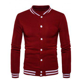 Red Fleece Jacket Men Cheap Casual Style Online Free Shipping at ...