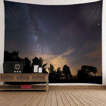Starry Night Printed Wall Decor Waterproof Tapestry - GRAY W79 INCH * L71 INCH