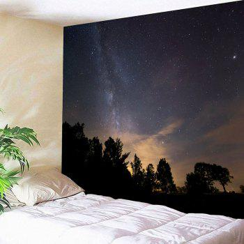 Starry Night Printed Wall Decor Waterproof Tapestry - GRAY GRAY