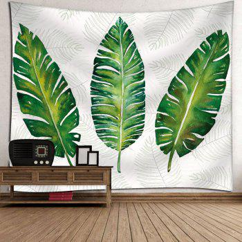 Palm Leaves Bedroom Wall Hanging Tapestry - WHITE W91 INCH * L71 INCH