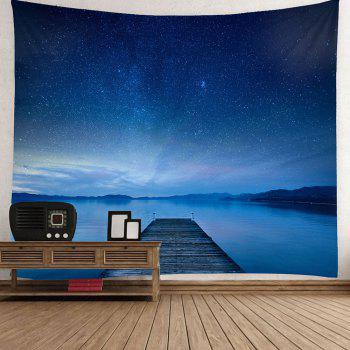 Waterproof Galaxy Bridge Printed Wall Hanging Tapestry - BLUE W59 INCH * L59 INCH