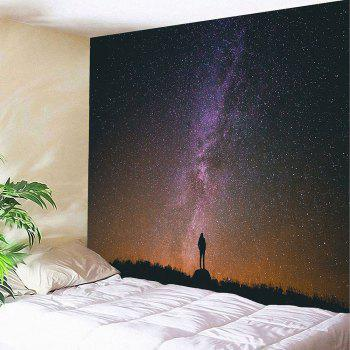 Waterproof Colored Galaxy Pattern Wall Hanging Tapestry - COLORMIX COLORMIX