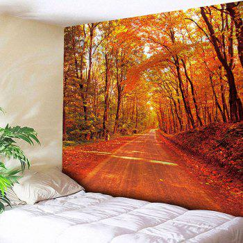 Waterproof Maple Leaf Road Pattern Wall Hanging Tapestry - DARKSALMON DARKSALMON
