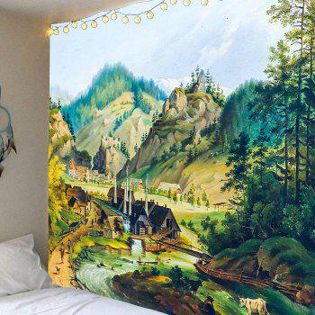 Rustic Scenery Pattern Waterproof Wall Hanging Tapestry - COLORFUL COLORFUL
