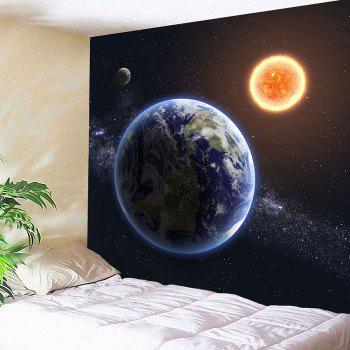 Waterproof Earth Planet Pattern Wall Hanging Tapestry - COLORMIX W79 INCH * L71 INCH